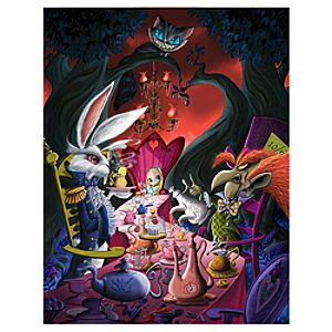 Mad Tea Party Reunion Alice in Wonderland Giclée on Canvas