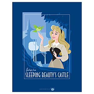 Greetings from Sleeping Beautys Castle Briar Rose Giclée