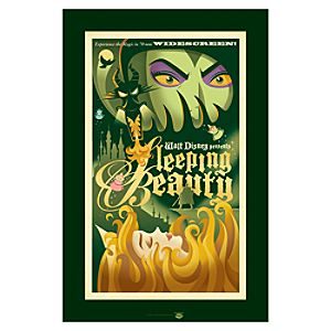 Sleeping Beauty Aurora and Maleficent Giclée