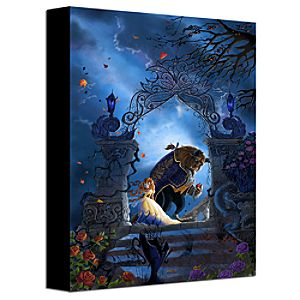 """Beastly Garden"" Beauty and the Beast Gallery Wrapped Canvas"