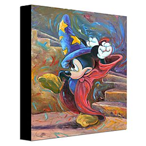 """Casting a Spell"" Mickey Mouse Gallery Wrapped Canvas"