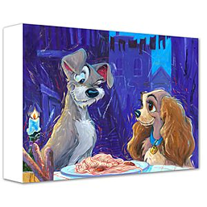 With a Wink and a Smile Lady and the Tramp Giclée on Canvas