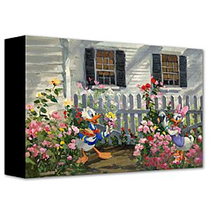 Daisys Capture Daisy Duck and Donald Duck Giclée on Canvas
