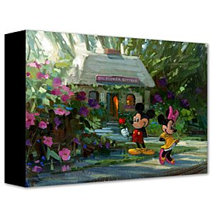 The Garden Cottage Gift Minnie Mouse and Mickey Mouse Giclée on Canvas