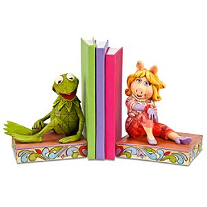 The Muppets Miss Piggy and Kermit Bookends by Jim Shore