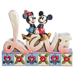 Love Minnie Mouse and Mickey Mouse Figurine by Jim Shore