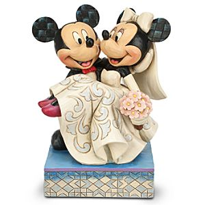 Mickey and Minnie Mouse Congratulations! Figure by Jim Shore