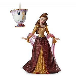 Belle and Chip Couture de Force Holiday Figure and Ornament Set