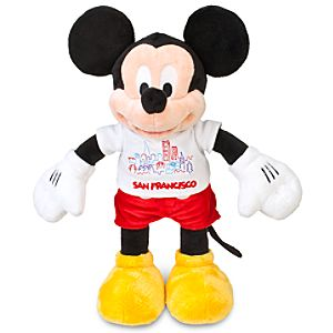 Mickey Mouse Plush - San Francisco Tee - 17""