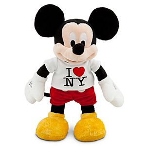 New York Tee Mickey Mouse Plush Toy -- 13 H
