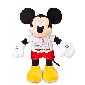 San Francisco Tee Mickey Mouse Plush Toy -- 13 H