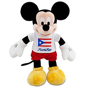 Puerto Rico Mickey Mouse Plush Toy -- 13 H