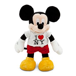 New York Tee Mickey Mouse Plush Toy -- 17 H