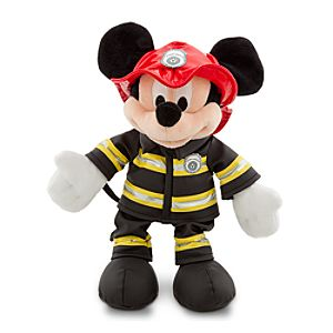 New York Fireman Mickey Mouse Plush Toy -- 18 H