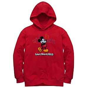 San Francisco Mickey Mouse Fleece Hoodie for Kids