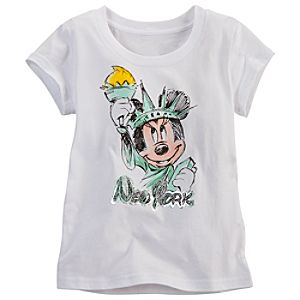 New York Minnie Mouse Tee for Girls