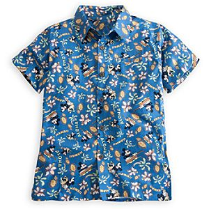 Hawaii Minnie and Mickey Mouse Aloha Shirt for Boys