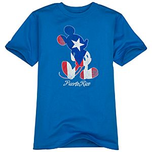 Puerto Rico Flag Mickey Mouse Tee for Boys -- Made with Organic Cotton