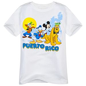 Puerto Rico Mickey Mouse And Friends Tee for Boys -- Made with Organic Cotton