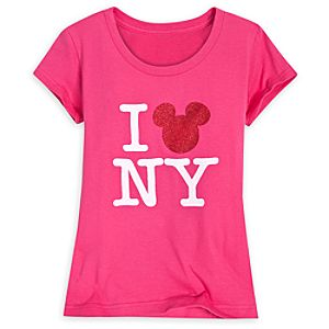 Scoop Neck I Mickey New York Mickey Mouse Tee for Girls