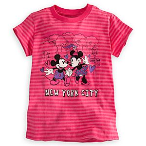 Mickey and Minnie Mouse Tee for Girls - New York