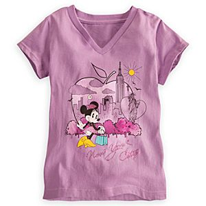 Minnie Mouse Tee for Girls - New York