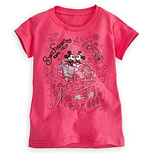 Mickey and Minnie Mouse Tee for Girls - San Francisco
