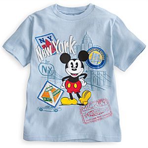 Mickey Mouse Around the World Tee for Boys - New York City