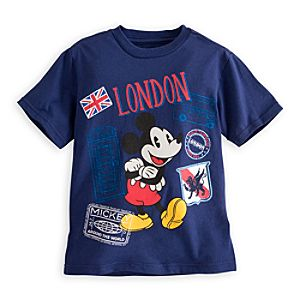 Mickey Mouse Around the World Tee for Boys - London