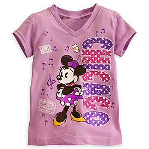 Minnie Mouse Around the World Tee for Girls
