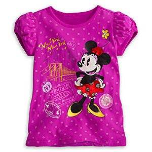 Minnie Mouse Around the World Tee for Girls - New York City