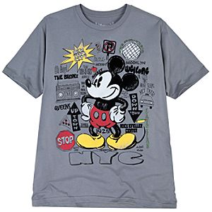 City Lights New York Mickey Mouse Tee for Men -- Made With Organic Cotton