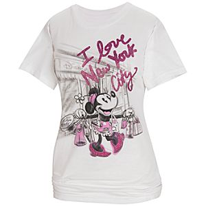 New York Glitter Minnie Mouse Tee for Women -- Made With Organic Cotton
