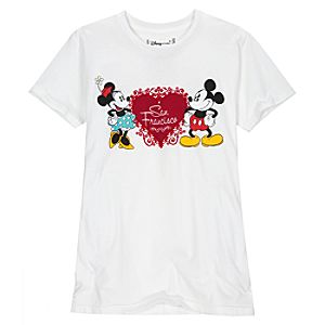 San Francisco Heart Minnie and Mickey Mouse Tee for Women -- Made With Organic Cotton