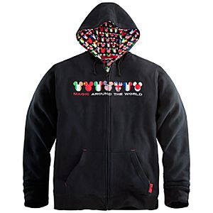 Magic Around the World Mickey Mouse Hoodie for Adults