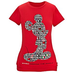 Magic Around the World Mickey Mouse Tee for Women