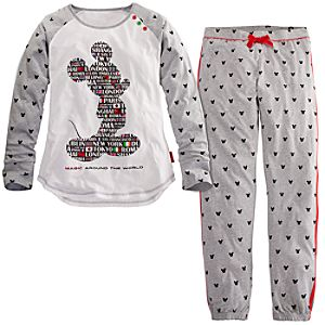 Magic Around the World Mickey Mouse Pajama Set for Women -- 2-Pc.