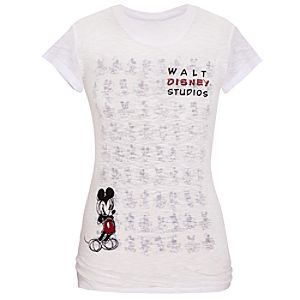 Burnout Walt Disney Studios Mickey Mouse Tee for Women