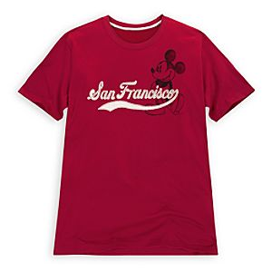 San Francisco Vintage-Style Mickey Mouse Tee for Men