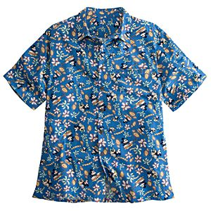 Hawaii Minnie and Mickey Mouse Aloha Shirt for Men