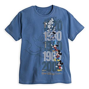 Mickey Mouse Through the Years Tee for Men