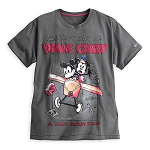 Mickey Mouse Plane Crazy Tee for Men