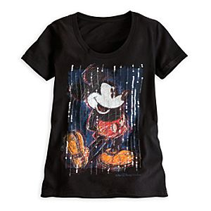 Mickey Mouse Sequined Tee for Women