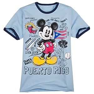 Puerto Rico Icons Mickey Mouse Tee for Men -- Made with Organic Cotton