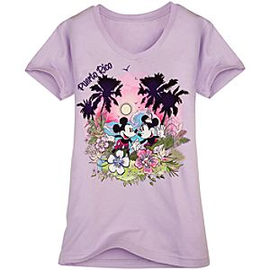 Puerto Rico Minnie and Mickey Mouse Tee for Women -- Made with Organic Cotton