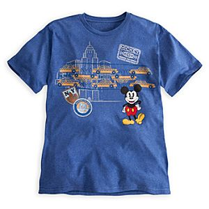 Mickey Mouse Around the World Tee for Men - New York City