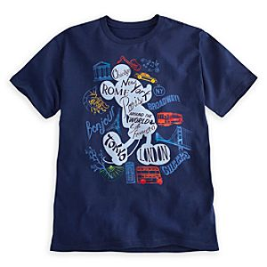 Mickey Mouse Around the World Tee for Men