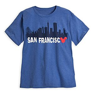 Mickey Mouse Icon Skyline Tee for Men - San Francisco