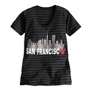 Mickey Mouse Icon Skyline Tee for Women - San Francisco