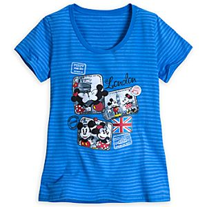 Mickey Mouse and Minnie Around the World Tee for Women - London